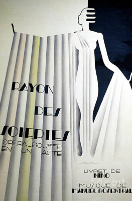Drawing - Poster For Rayon Des Soiries, Comic Opera, Libretto By Nino, Music By Manule Rosenthal by European School