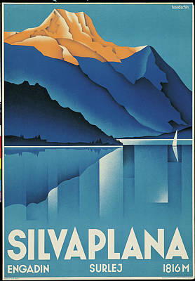 Painting - Poster For Silvaplana, By Johannes by Mondadori Portfolio