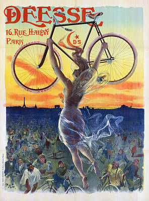 Photograph - Poster Of Goddess With Bicycle by Graphicaartis