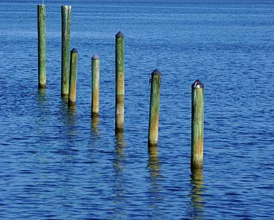Photograph - Posts In The Water by Norma Brock