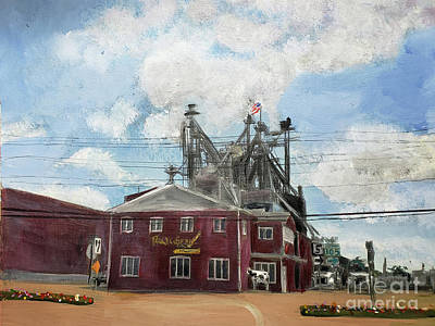 Painting - Poulin Grain In Newport by Donna Walsh