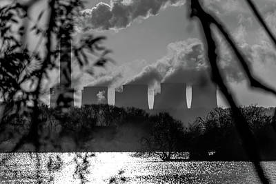 Photograph - Power Plants Over A Lake by Scott Lyons
