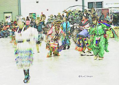 Digital Art - Powwow Abstraction #1 by Kae Cheatham