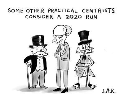 Drawing - Practical Centrists by Jason Adam Katzenstein