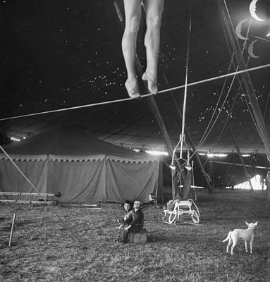 Human Interest Photograph - Practice At Ringling Brothers Circus by Nina Leen