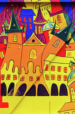 Czech Republic Wall Art - Mixed Media - Prague Art by Smart Aviation