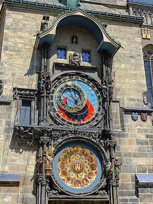 Spot Of Tea - Prague Astronomical Clock tower in Old Town Square by Karen Foley