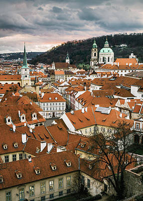 Photograph - Prague Cityscape by Dave Bowman