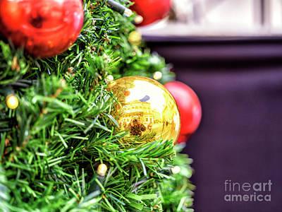 Photograph - Prague Gold Christmas Ball by John Rizzuto
