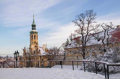 Photograph - Prague Historic Monument Loreta In Wintertime by Jenny Rainbow