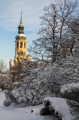 Photograph - Prague Loreta Belltower In Wintertime by Jenny Rainbow