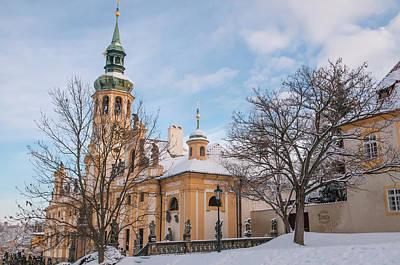 Photograph - Prague Loreta In Winter Time by Jenny Rainbow