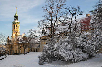 Photograph - Prague Loreta Under Snow by Jenny Rainbow