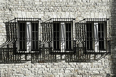 Photograph - Prague Windows. Light And Shadows by Jenny Rainbow
