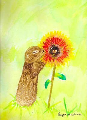Painting - Prairie Dog by Aingeal Rose