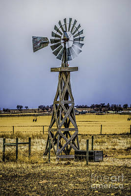 Photograph - Prairie Windmill In The Sun by Jon Burch Photography