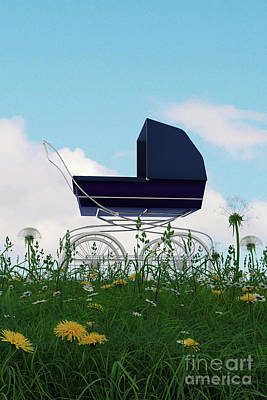 Digital Art - Pram In The Countryside by Clayton Bastiani