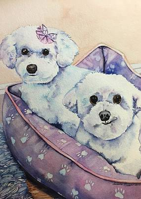 Painting - Prancer and Simone by Susanne Nason