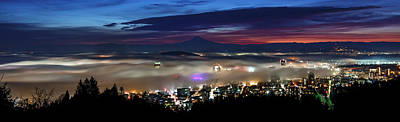 Photograph - Predawn Portland by Wes and Dotty Weber