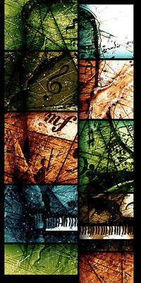 Grand Piano Wall Art - Digital Art - Preludio 03 by Gary Bodnar
