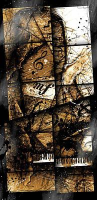 Grand Piano Wall Art - Digital Art - Preludio 04 by Gary Bodnar