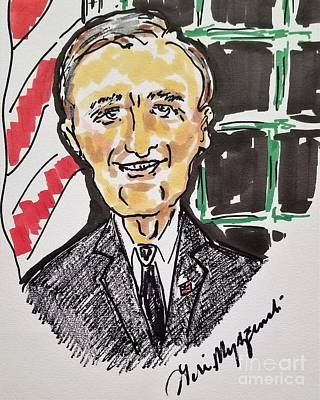 Politicians Mixed Media - President George HW Bush 41st President by Geraldine Myszenski
