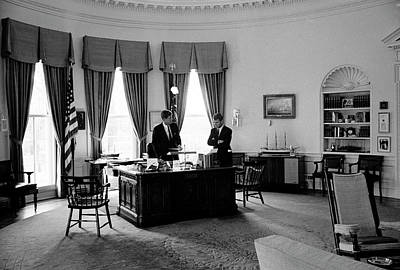 General Photograph - President John F. Kennedy L And His by Art Rickerby