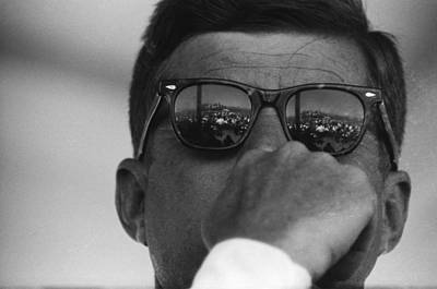 Photograph - President Kennedy At San Luis Dam by Michael Ochs Archives