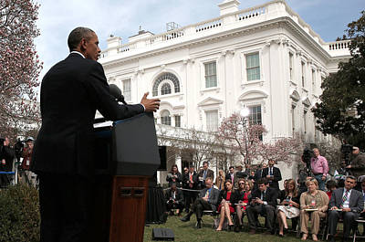 House Photograph - President Obama Makes Statement On by Win Mcnamee