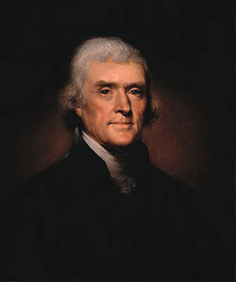 Shark Art - President Thomas Jefferson  by War Is Hell Store