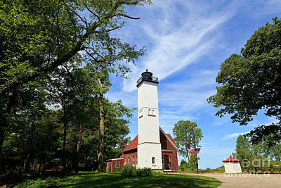 Photograph - Presque Isle Light In The State Park by Jill Lang