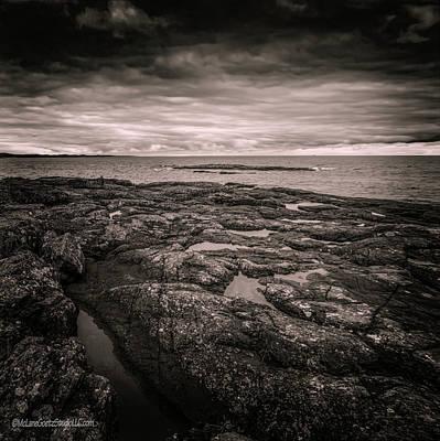 Photograph - Presque Isle Monochrome by LeeAnn McLaneGoetz McLaneGoetzStudioLLCcom
