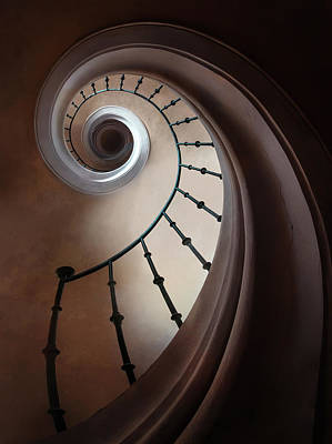 Photograph - Pretty Brown Staircase by Jaroslaw Blaminsky