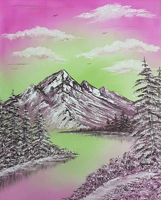 Animals Paintings - Pretty cool winter in pink by Angela Whitehouse