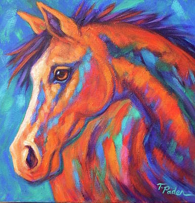 Wall Art - Painting - Pretty Little Filly by Theresa Paden