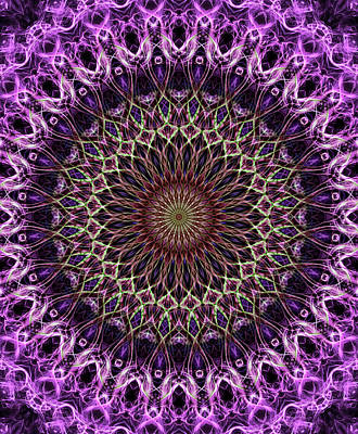 Digital Art - Pretty Mandala In Pink And Cream Tones by Jaroslaw Blaminsky