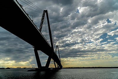 Photograph - Pretty Sky By The Ravenel Bridge In Charleston by Sven Brogren