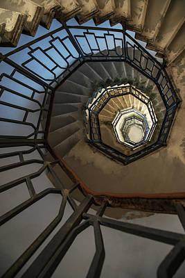 Photograph - Pretty Spiral Staircase by Jaroslaw Blaminsky