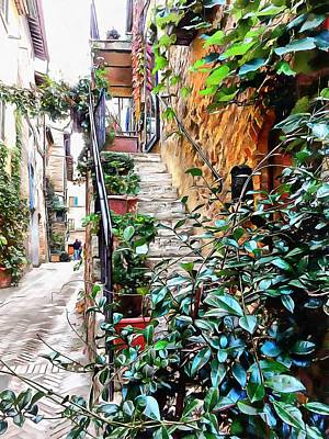 Photograph - Pretty Stairway Pienza by Dorothy Berry-Lound
