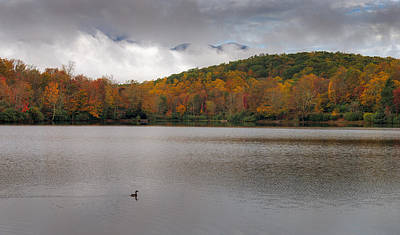 Photograph - Price Lake Autumn - Grandfather Mountain - Blue Ridge Parkway by Mike Koenig