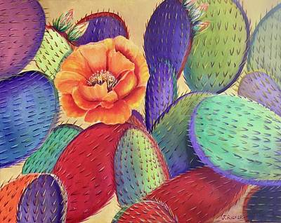Painting - Prickly Rose Garden by Jane Ricker