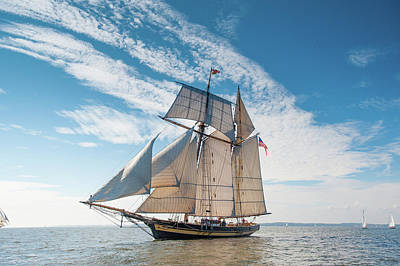 Photograph - Pride Of Baltimore II Racing by Mark Duehmig