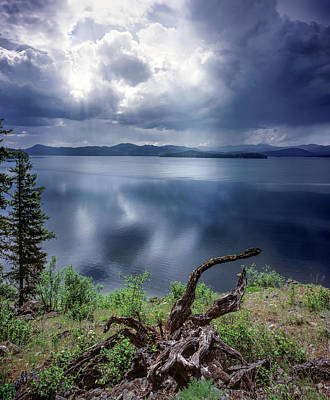 Priest Lake Light Art Print by Leland D Howard