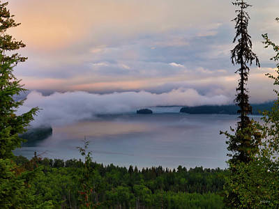 Photograph - Priest Lake Sunrise Light by Leland D Howard
