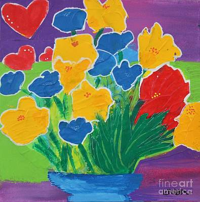 Painting - Primary Bouquet by Kim Nelson