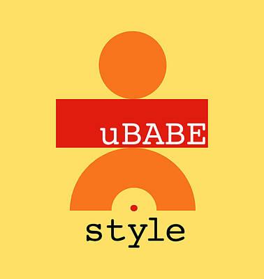 Digital Art - Primitive Yellow by Ubabe Style