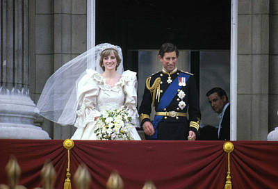 Photograph - Prince Charles & Lady Diana On Wedding by Express Newspapers