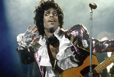 Photograph - Prince Performs by Michael Ochs Archives