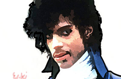 Musicians Drawings - Prince the dandy by 3nki  by Enki Art