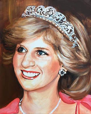Painting - Princess Diana by Robert Korhonen